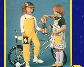 Childs Overall, Dress & Knit Top - Multi Sized Patterns (ages 1-6 ) by KNITWIT No. 6200