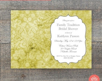 Bridal Shower Invitation Printable File, Lingerie Shower, First Birthday Party, Wedding Shower, Print Yourself