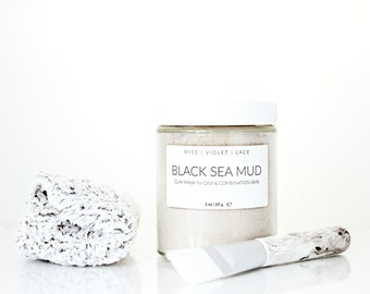 Black Sea Mud   Clay Mask For Oily and Combination Skin   100% natural and vegan