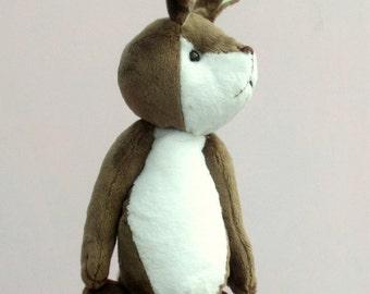 Fennel soft toy rabbit sewing pattern