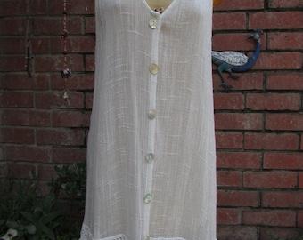 beach comber sheer 90s dress