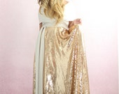 Wedding Dress Romantic bohemian gold wedding gown infinity dress