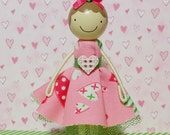 SweetHeart Betsy Miniature Wooden Clothespin Doll