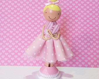 SweetHeart Lisa Miniature Wooden Clothespin Doll