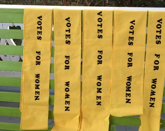 Ships Today- SASH ONLY  for  Mrs. Banks  Dress Votes for Women