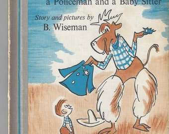 Morris is a Cowboy A Policeman and a Babysitter Vintage Children's Book, C1960