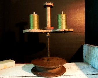 Antique Victorian Thread Spool Holder/  Industrial Spool Stand / Shop Display / Victorian Spool Holder /  Sewing Caddy / Collectible Sewing