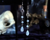 Tears of Luna Silver Moonstone Earrings