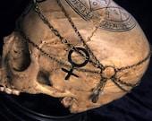 Art Nouveau Elven Headdress 21 inches