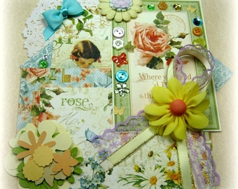 Graphic 45 Secret Garden Spring Inspiration Kit, Embellishment Kit, Life Project Kit for Scrapbooks Cards Mini Albums and Paper crafts 1