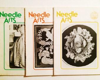 Vintage 1977 Modern Needle Arts Magazine / Journals / Periodicals