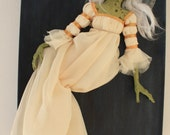 Titania, Queen of the Faeries - original 3 dimentional sculpture mounted on canvas