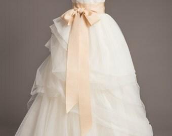 """Vanilla Bean Wedding Sash - 3"""" - Romantic Luxe Grosgrain Ribbon Sash - Wedding Belt, Bridal Sash, Bridal Belt - Wedding Dress Sash"""