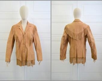 1950s Pioneer Wear Suede Fringed Jacket