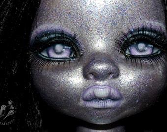 SALE custom Disney Animators doll collection ooak repaint artist fantasy mulan hollow glitter space - Free Spirit
