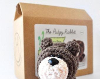 Bear Crochet Kit, Craft Kit, Learn to Crochet Kit, DIY Kit
