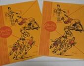 2 Vintage 1980's Old School Pee-Chee Portfolio Folders