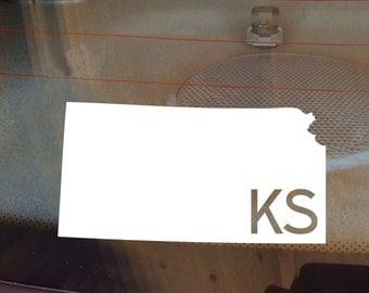 Kansas Car Decal, State Decal, Kansas Decal, Laptop Sticker, Laptop Decal, Car Sticker, Car Decal, Vinyl Decal, KS, Decal, Window Sticker