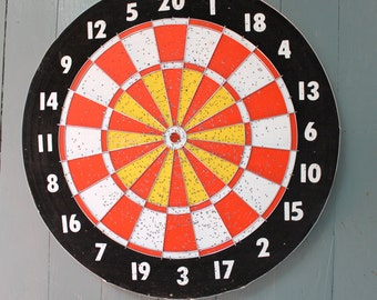 Game of Darts...Vintage Dart Board, Game Night, Baseball