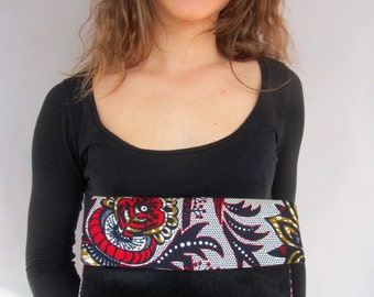 Chic African Clutch - Party Black Red Dressy Purse