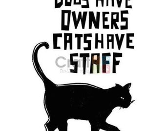 Stamperia Acrylic Stamp - Cats Have Staff