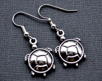 Silver Turtles . Earrings