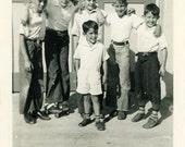 "Vintage Photo ""The Boys"" Snapshot Photo Old Antique Photo Black & White Photograph Found Photo Paper Ephemera Vernacular - 118"