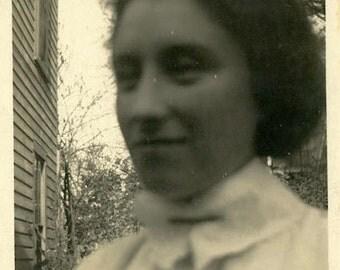 "Vintage Photo ""Grandmother Pearl"" Snapshot Photo Old Antique Photo Black & White Photograph Found Photo Paper Ephemera Vernacular - 187"