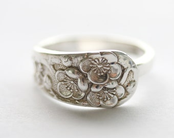 Vintage Sterling Silver Ring- Poppy, 1920