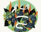 Garden Serpent - Fine Art Print 11x14