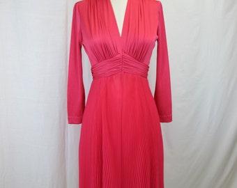 1970s Miss Elliette California Pink Cocktail Dress