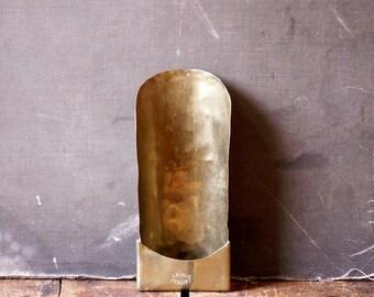 Large Antique Brass Scoop - J. Aitken, Dundee, Ireland