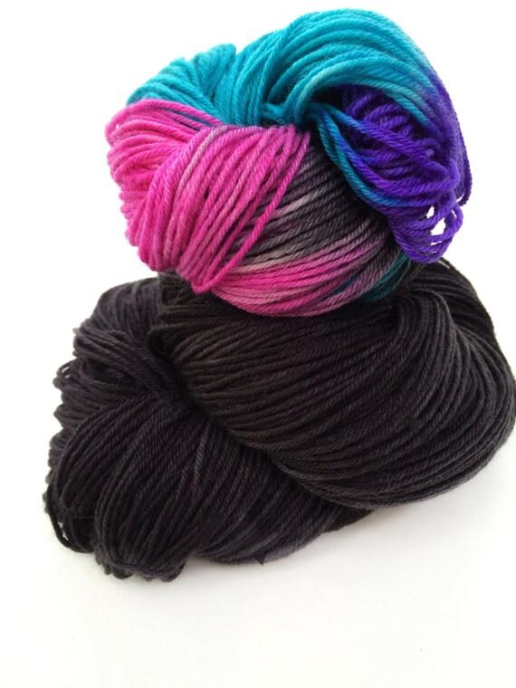 New! COLORSHOT Yarn, Merino, Cashmere,Hand Dyed Sock Yarn, Hand Dyed, Merino, Knit,