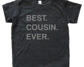 Best Cousin Ever Tshirt - Kids Cousin Shirt - Tee - Youth Girls or Boy Shirt / Super Soft Kids Tee Sizes 2T 4T 6 8 10 12 - Triblend Gray