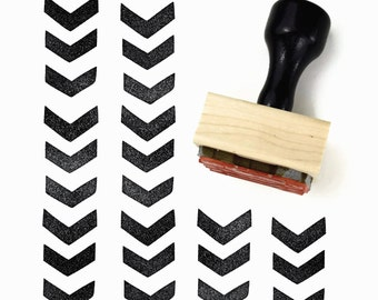 Rubber Stamp Chevron Pattern Herringbone - Hand Drawn Geometric Pattern Stamp