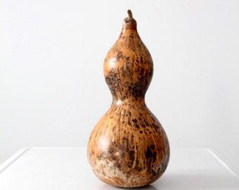 vintage gourd, large dried large bottle gourd
