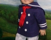 RESERVED Sailor Shirt, Pants, and Hat for 18 inch Dolls