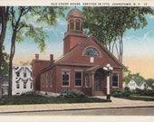 Old Court House- 1920s Antique Postcard- Johnstown, NY- Erected 1772- Historic Courthouse- New York Souvenir- Paper Ephemera- Unused