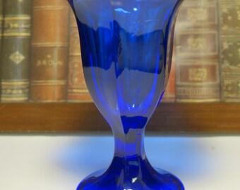 Vintage Anchor Hocking Cobalt Blue Parfait Glass, Ice Cream Glass, Sundae Glass, Desert Glass, Cobalt Blue Glass, Anchor Hocking, Blue Glass