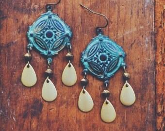 bohemian teardrop chandelier earrings.