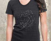 Celestial Map Women's Shirt - American Apparel Tri-Blend Shirt