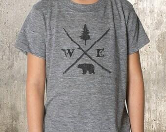 Forest Compass Illustration  - Kid's T-Shirt - TriBlend T-Shirt