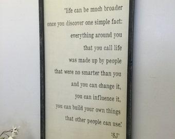 Steve Jobs quote 18x36