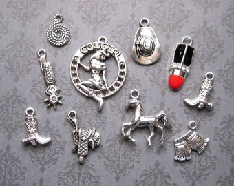 Cowgirl Charm Collection in Silver Tone - C2321