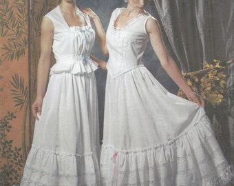 Teresa Nordstrom Womens Victorian Undergarments OOP Simplicity Sewing Pattern 5905 Size 14 16 18 20 Bust 36 38 40 42 FF 1900 to 1910 Era