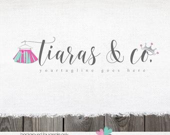 tutu logo sewing logo premade logo tiara logo clothing Logo boutique Logo logos and watermarks premade logo design childrens princess logo