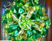 Whimsical Monogram St. Patricks Wreath