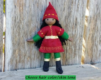 Christmas Elves - Kindness Tradition - Brown Skin Elf - African American - Dark Skinned Elf - Black Christmas Elf- Christmas Elves