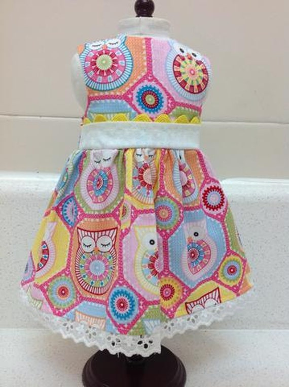 Owl Dress for Who? American Made 18 Inch Doll Clothes