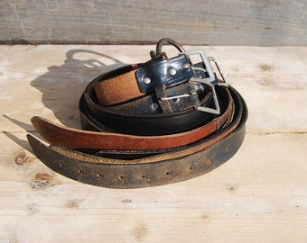 Four Genuine Leather Belts